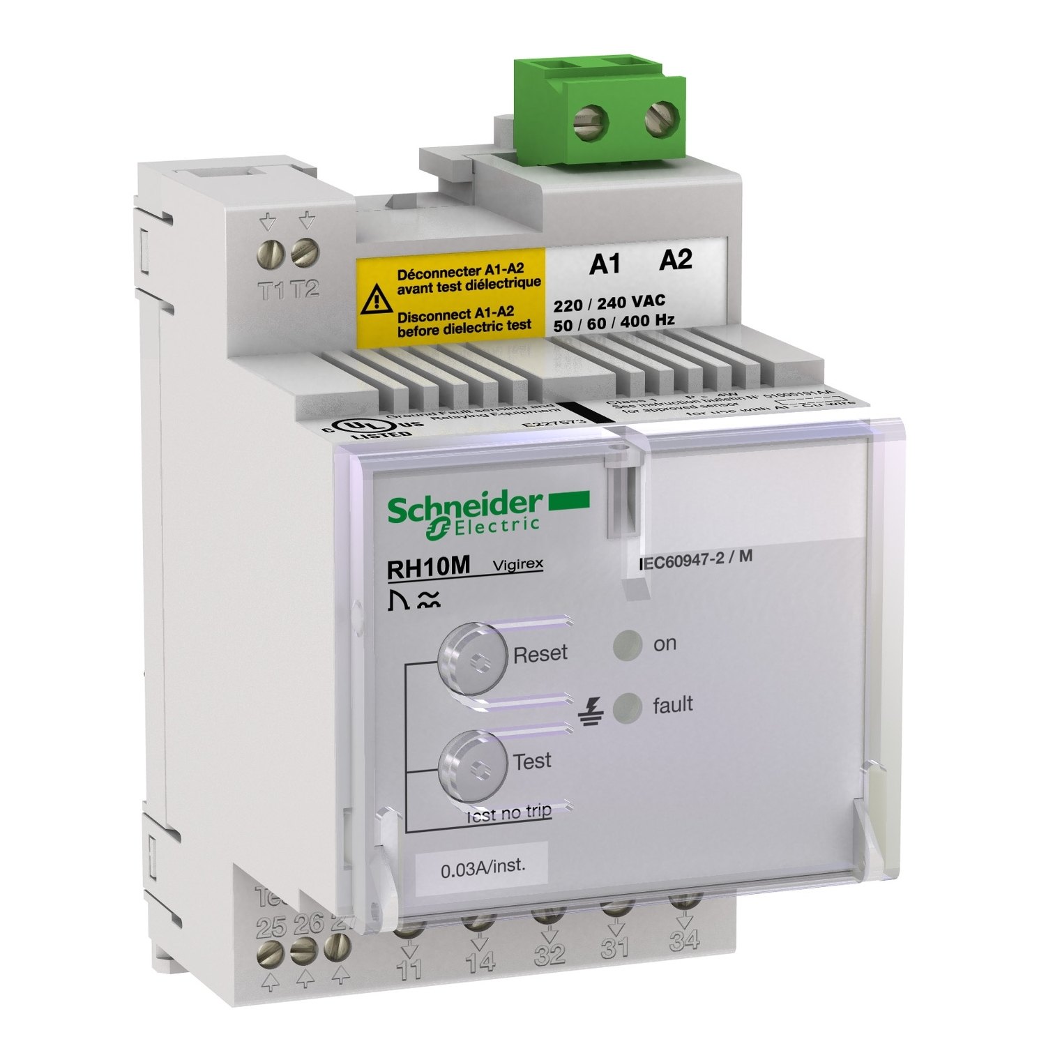 Диф. реле Shneider Electric RH21M ~440/525В 50/60Гц 1A